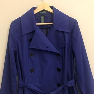 LAUREN RL cobalt blue lightweight pea coat